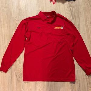 Superior Uniforms Red Advance Auto Parts Polo SR
